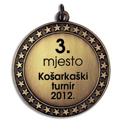 CNC gravura na medalji